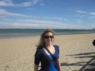 Josie on St Kilda Beach