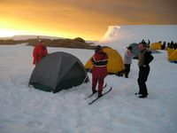 Camping from the Akademik Ioffe