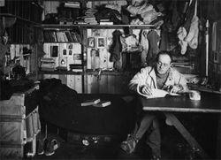Scott in his den, Cape Evans © UKAHT