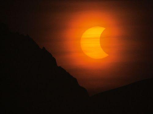 Partial Solar Eclipse, Antarctica © Carlos Zelayeta