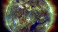 Solar storm video