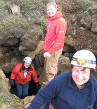 Coming out of the cave - Trudi, Torfi and Trish