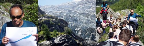 Bossons Glacier - Lesson in glaciology 1