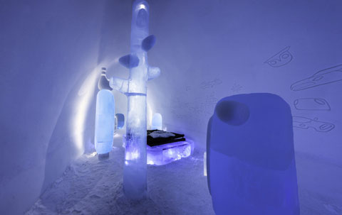 Inside the Icehotel