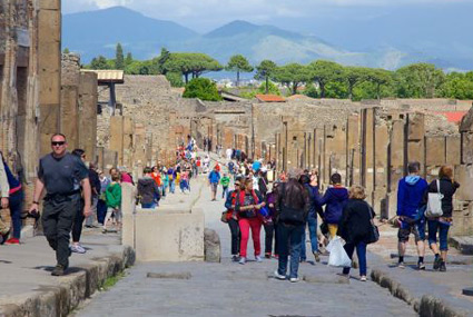 Tourists Visiting Pompeii