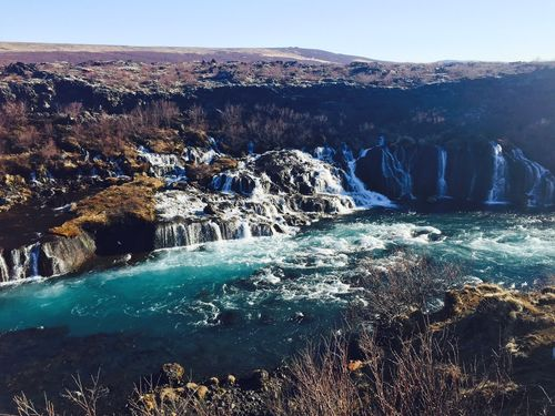Hraunfossar - nearly 1km wide