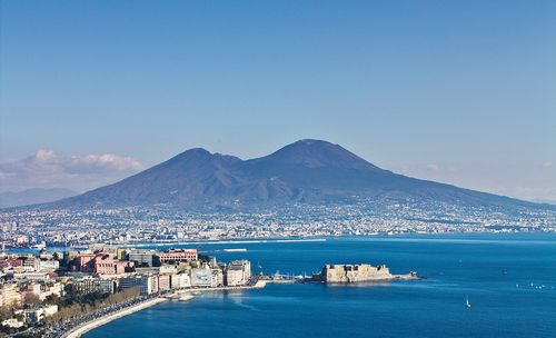 View of Mt Vesuvius and Naples