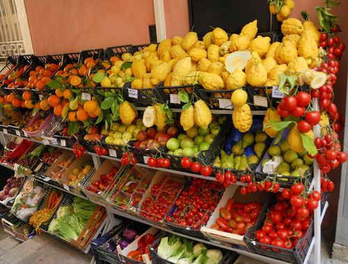Local produce for sale in Naples