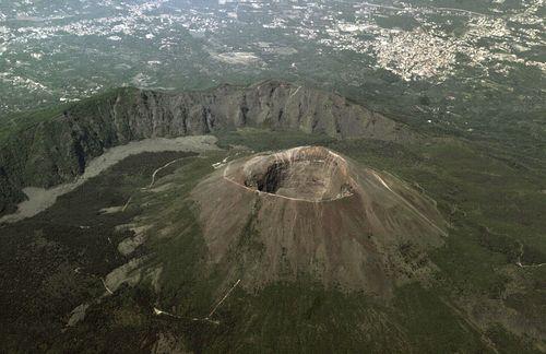 Mount Vesuvius from above